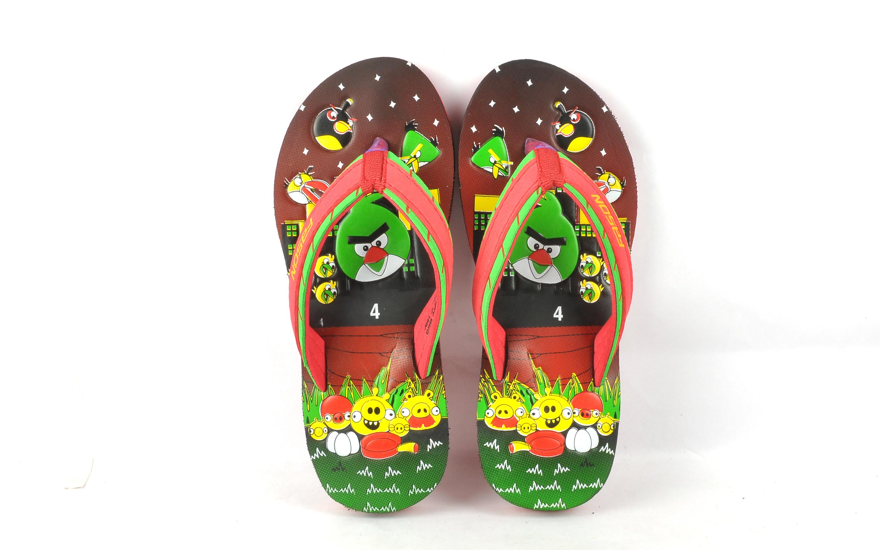 Angry bird kids slipper