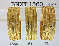 Diamond Cut Brass Bangles