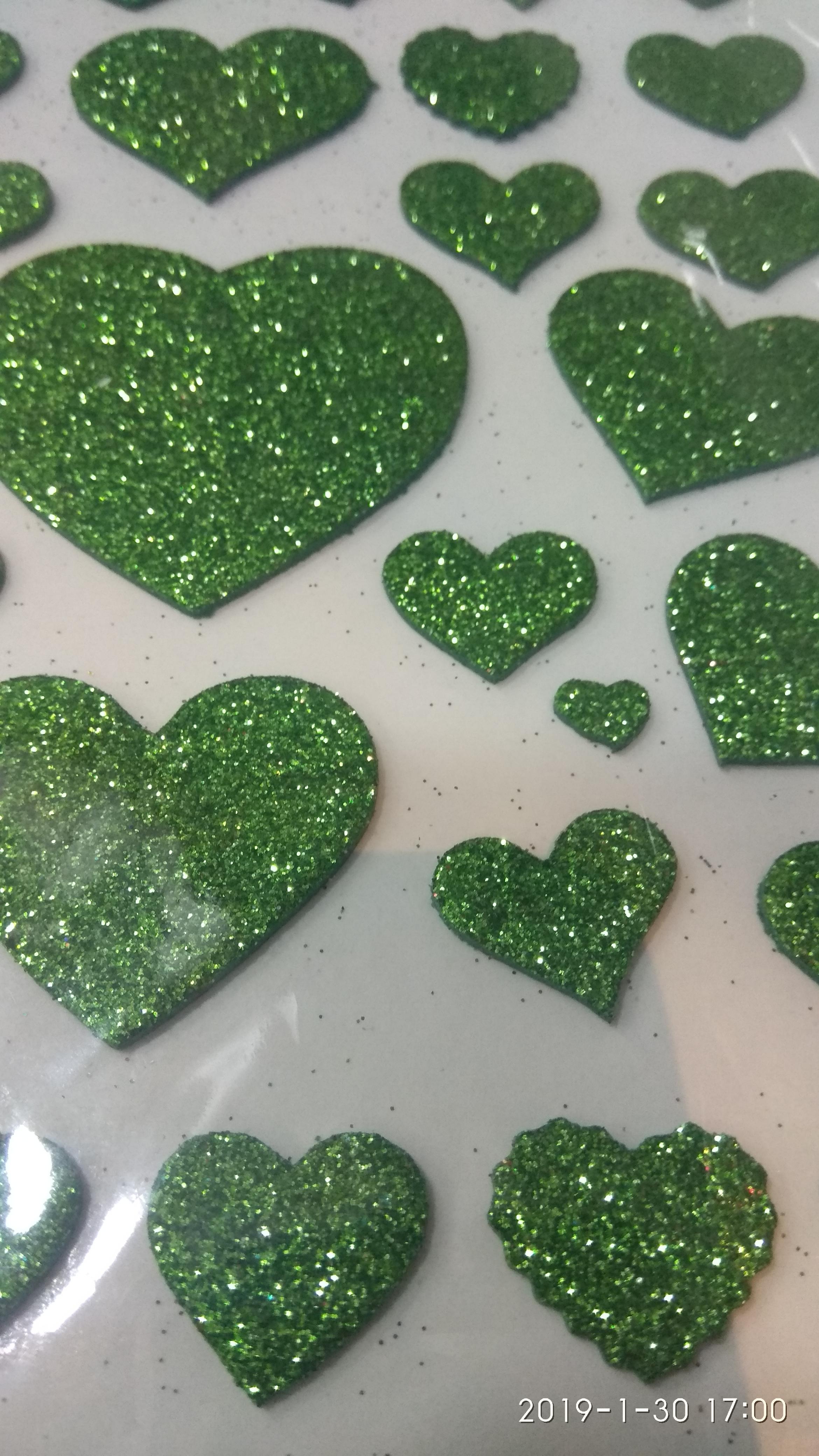 Craft Villa Glister Heart Glitter Sticker