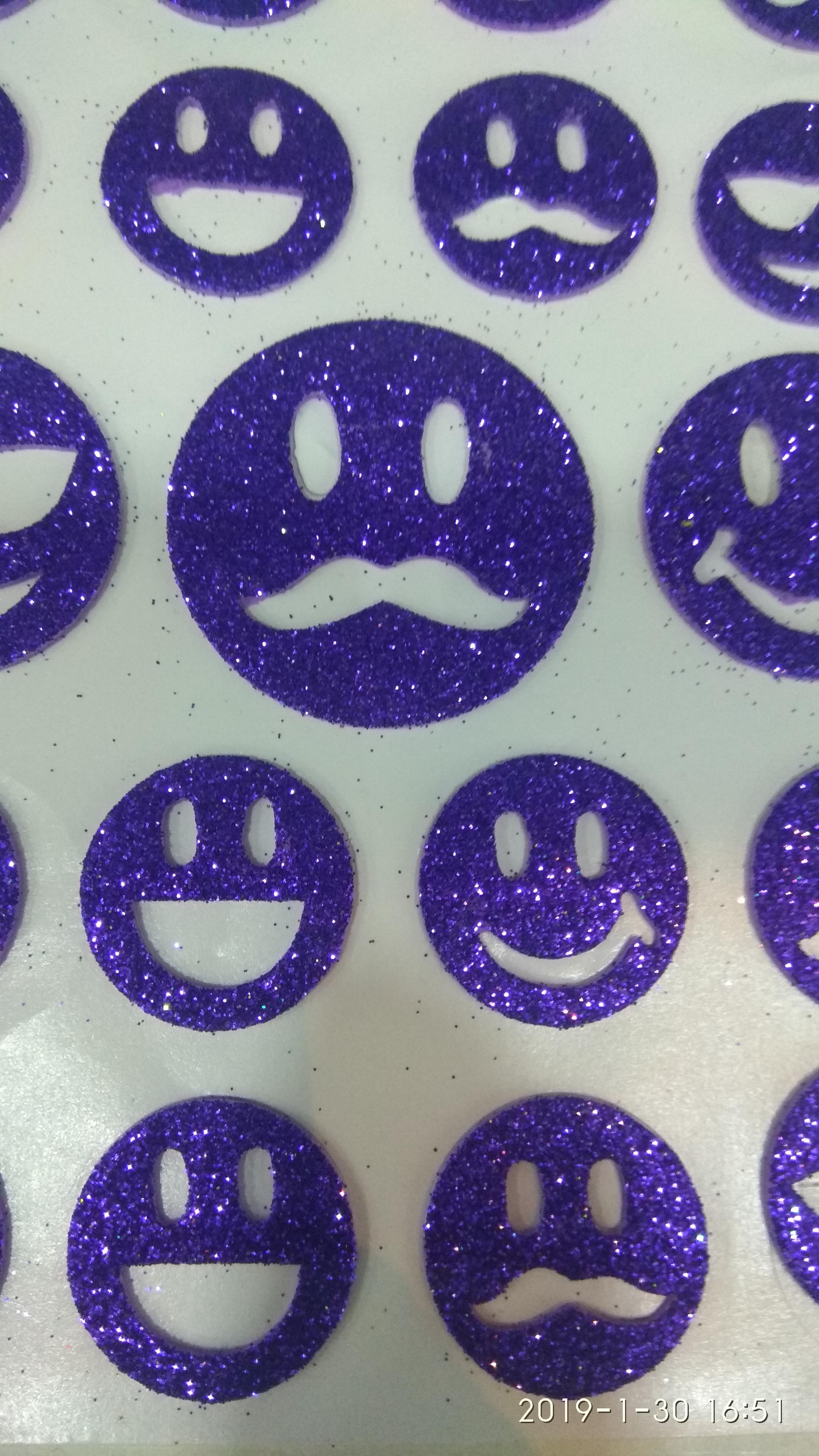 Craft Villa Glister Smiley Sticker