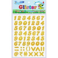 Craft Villa Glister Numeric Glitter Sticker