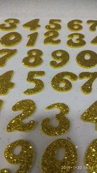 Craft Villa Glister Numeric Glitter Sticker