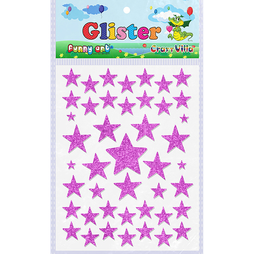 Craft Villa Glister Star Glitter Sticker