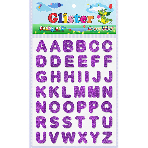 Craft Villa Glister Alphabet Glitter Sticker