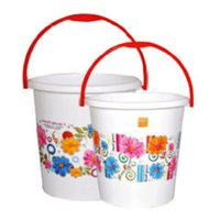 Silk Buckets Printed Plastic handle