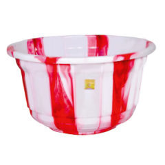 Plastic double colour tubs