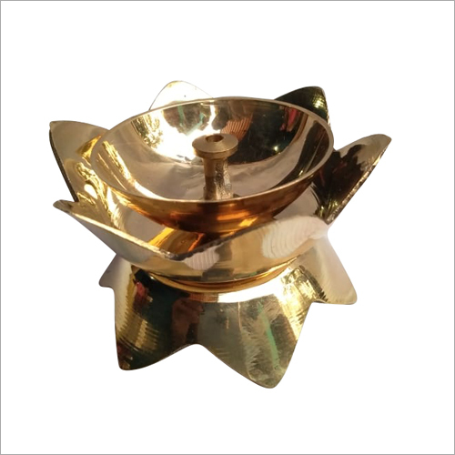 Brass Flower Shape Diya