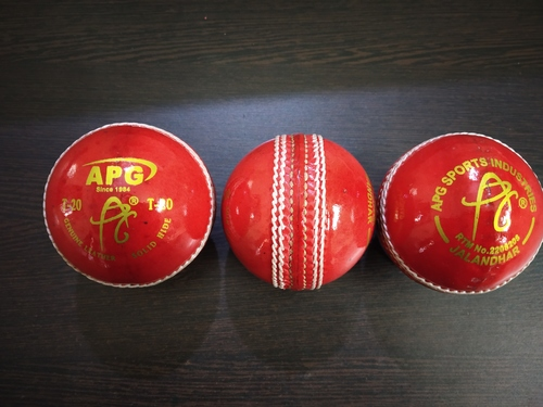 APG T-20 Alum Tanned Red Leather Cricket Ball