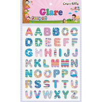 Craft Villa Glare Alphabet Print Sticker