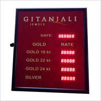 LED Gold Rate Display