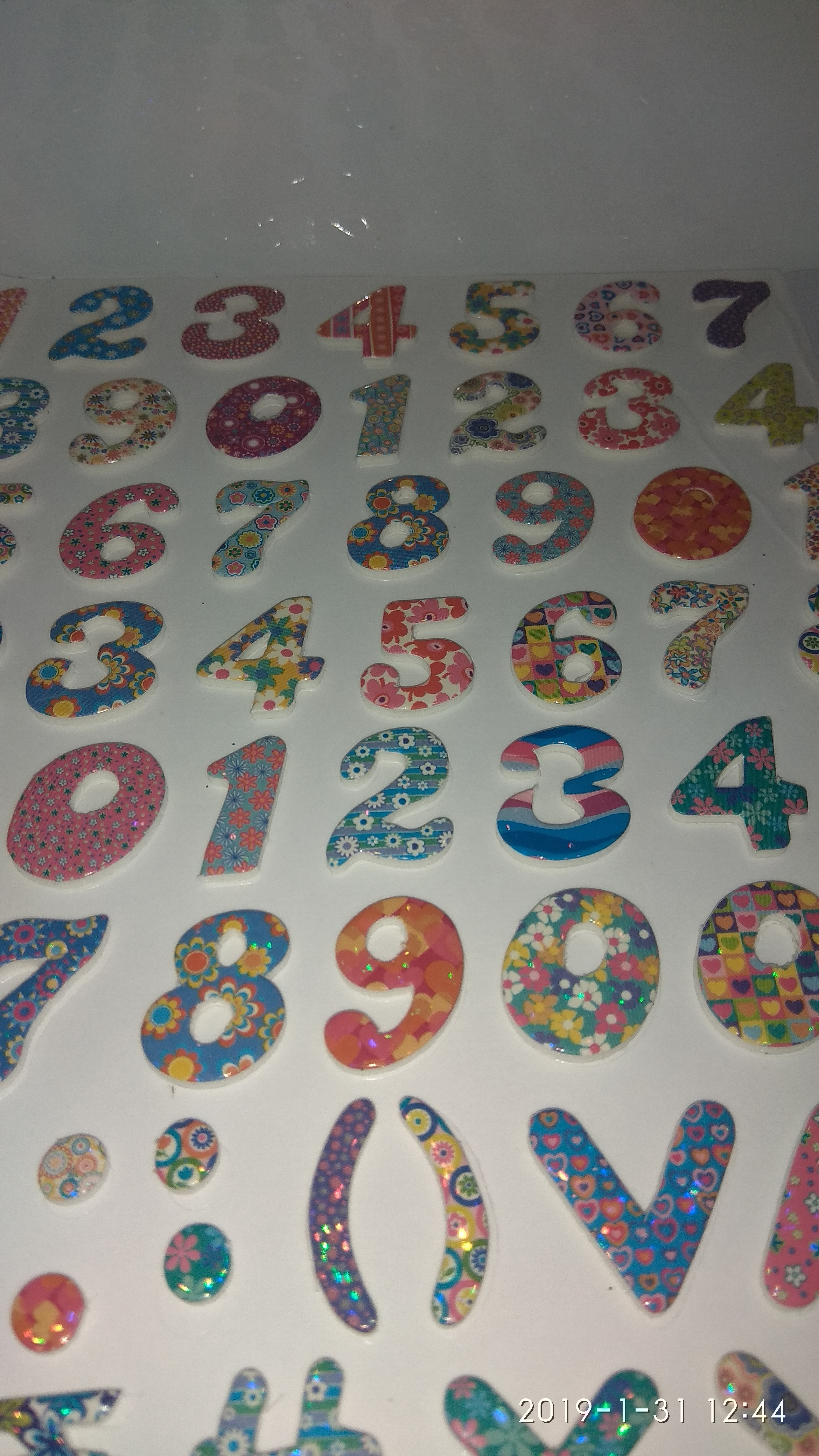 Craft Villa Glare Numeric Print Sticker
