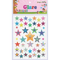 Craft Villa Glare Star Print Sticker