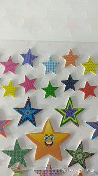 Craft Villa Glare Star Print Sticker