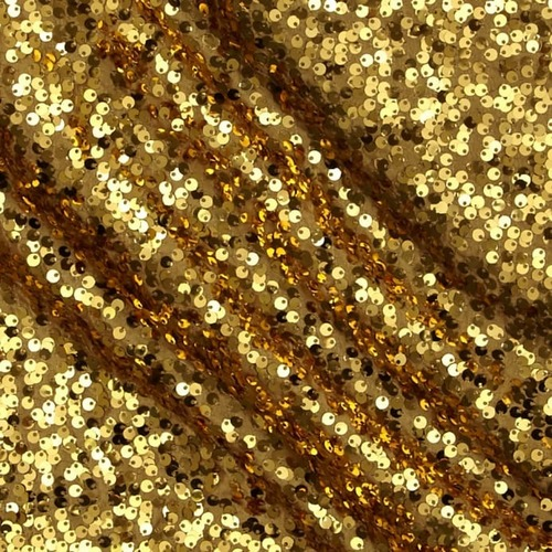 Golden Sequin Fabric