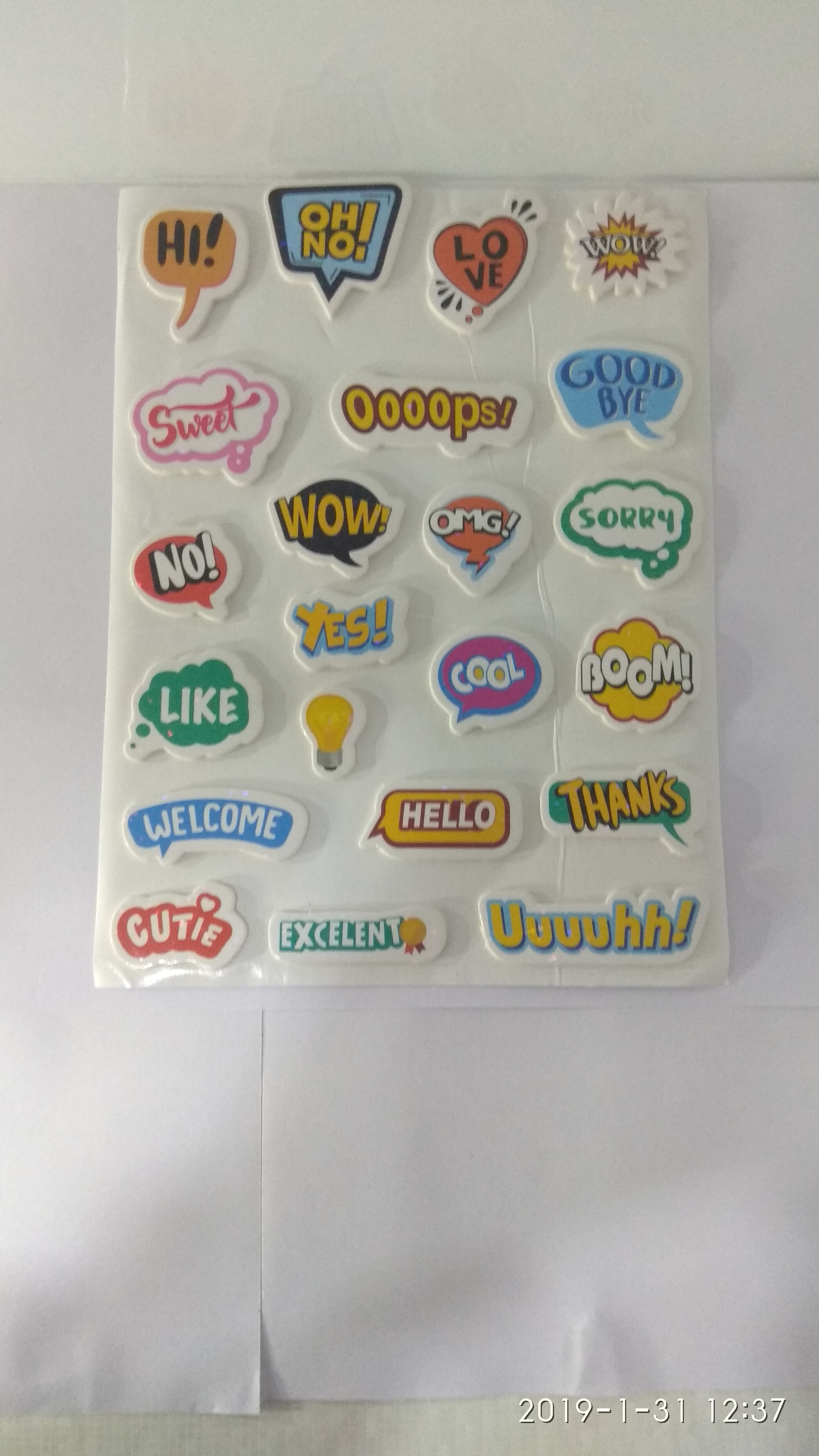 Craft Villa Glare Messages Print Sticker