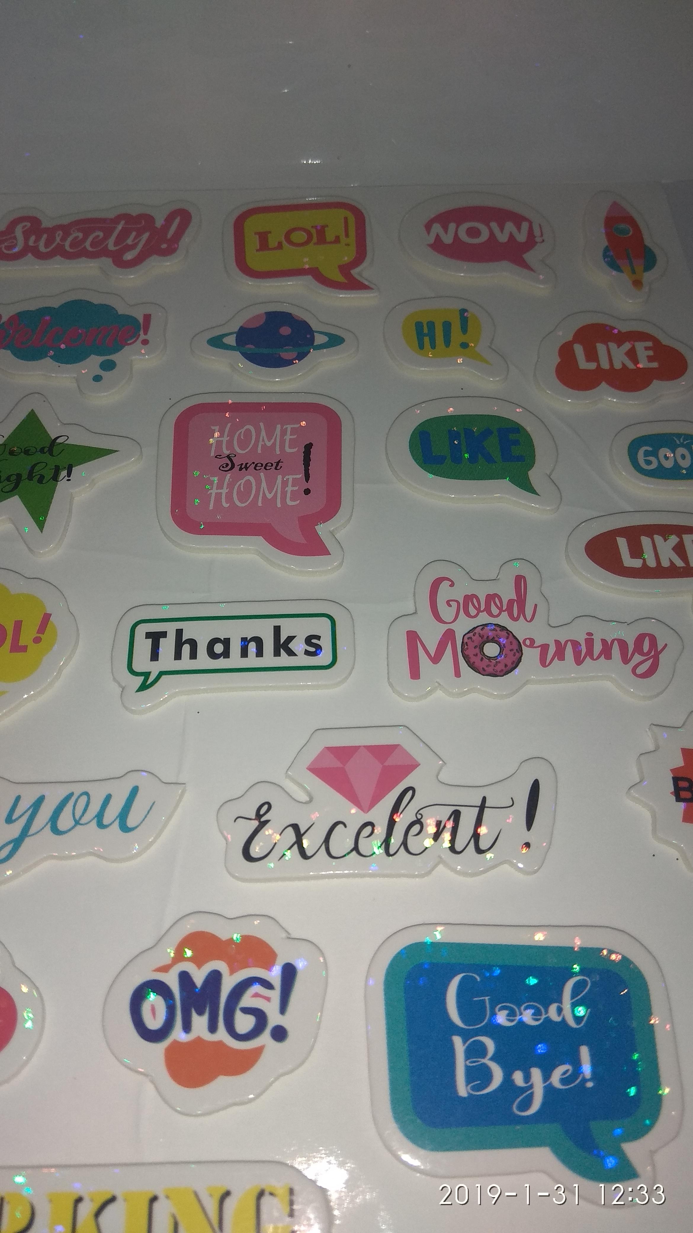 Craft Villa Glare Message Print Sticker