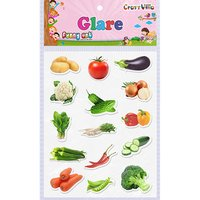 Craft Villa Glare Vegetables Print Sticker