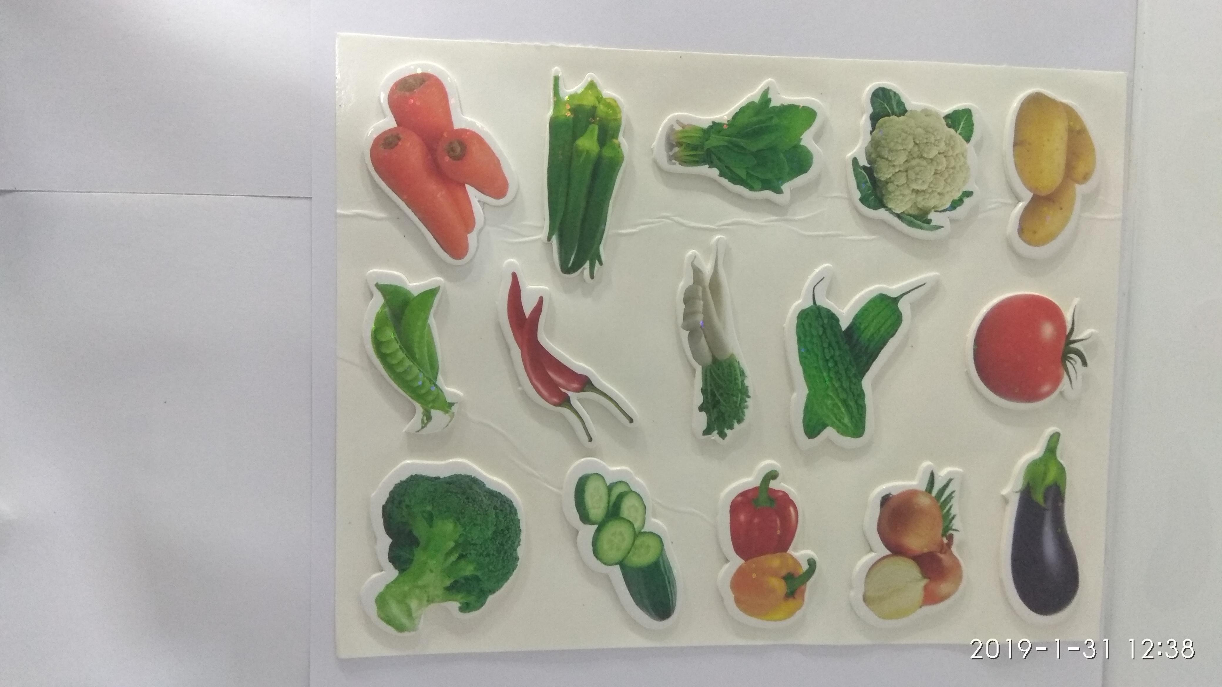 Craft Villa Glare Vegetables Print Sticker