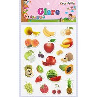 Craft Villa Glare Fruits Print Sticker