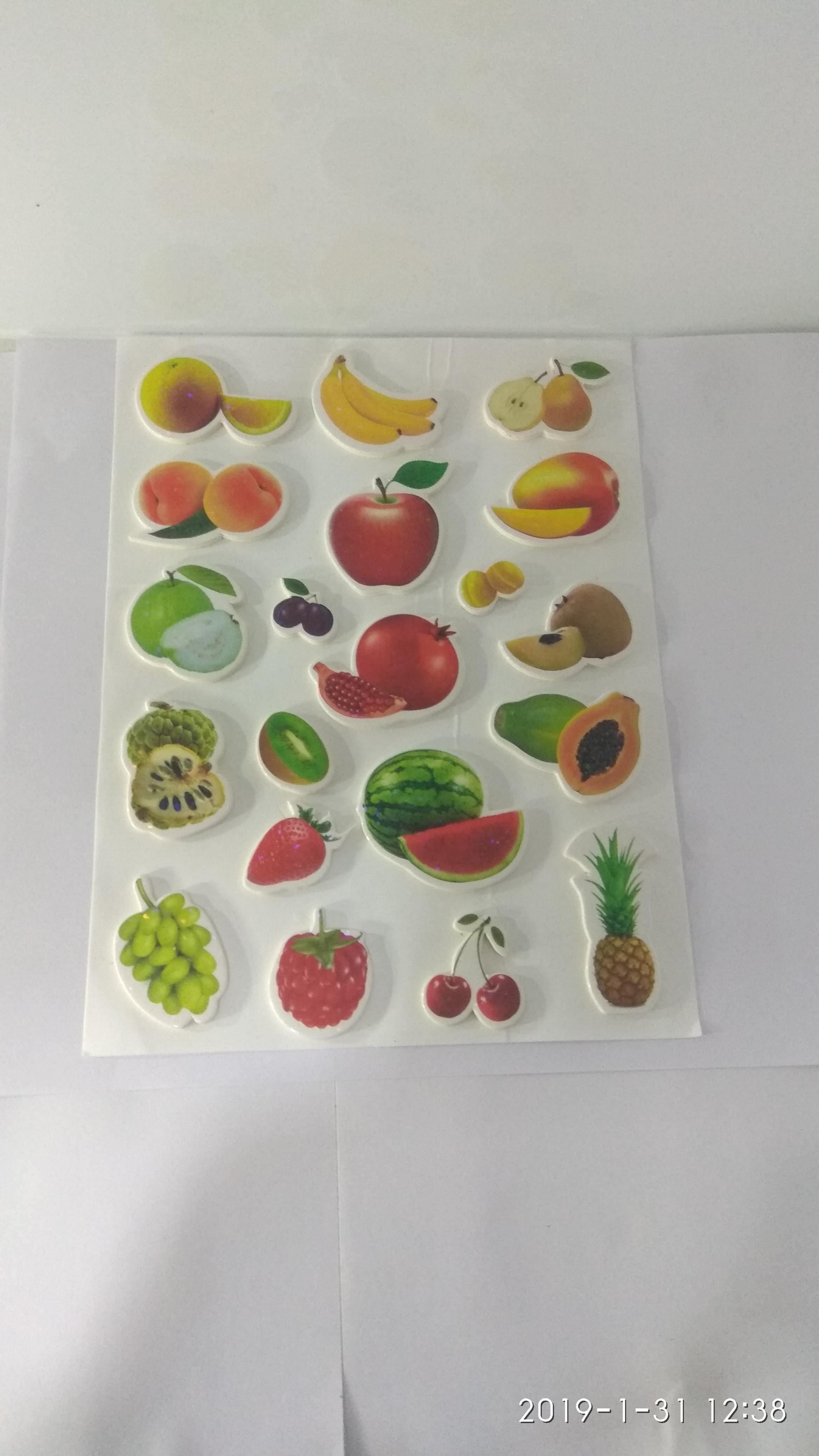 Craft Villa Glare Fruits Print Sticker