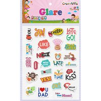 Craft Villa Glare Messages Print Sticker