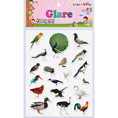 Craft Villa Glare Birds Print Sticker