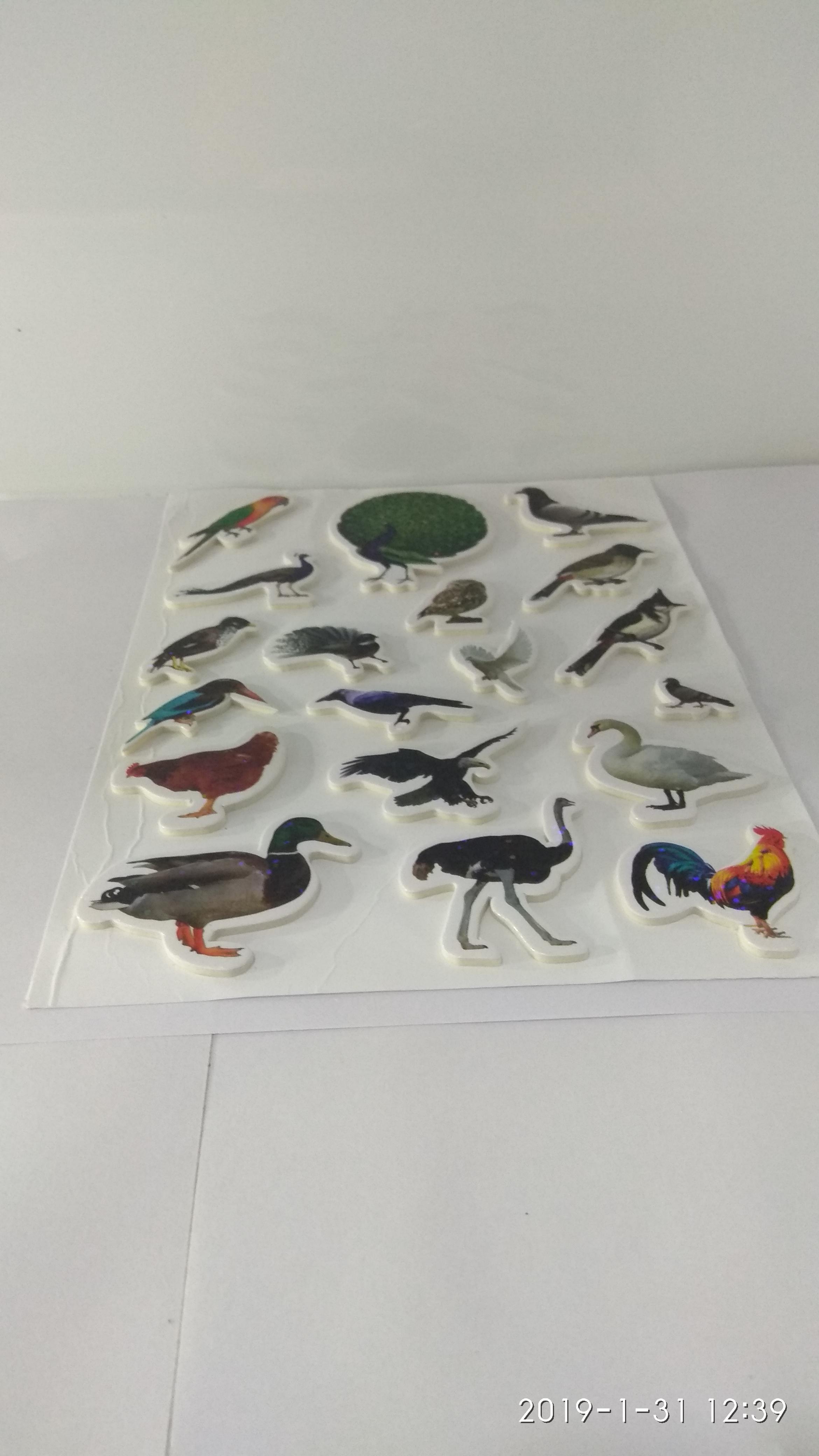 Craft Villa Glare Birds Print Sticker
