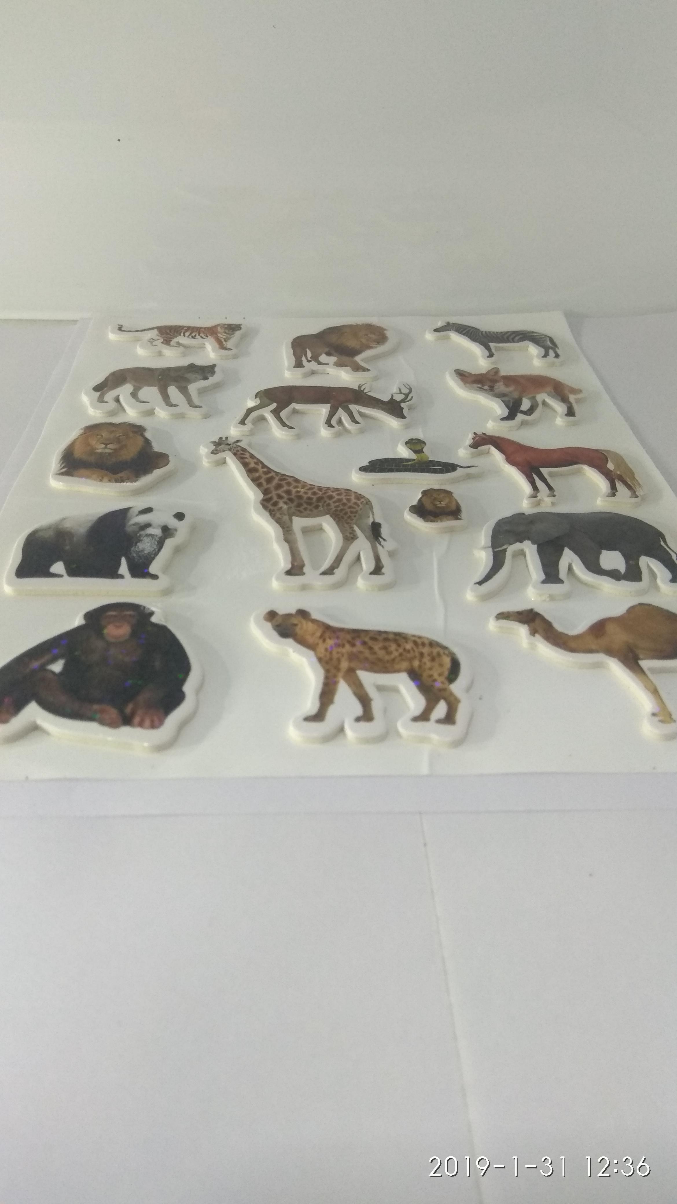 Craft Villa Glare Animals Print Sticker
