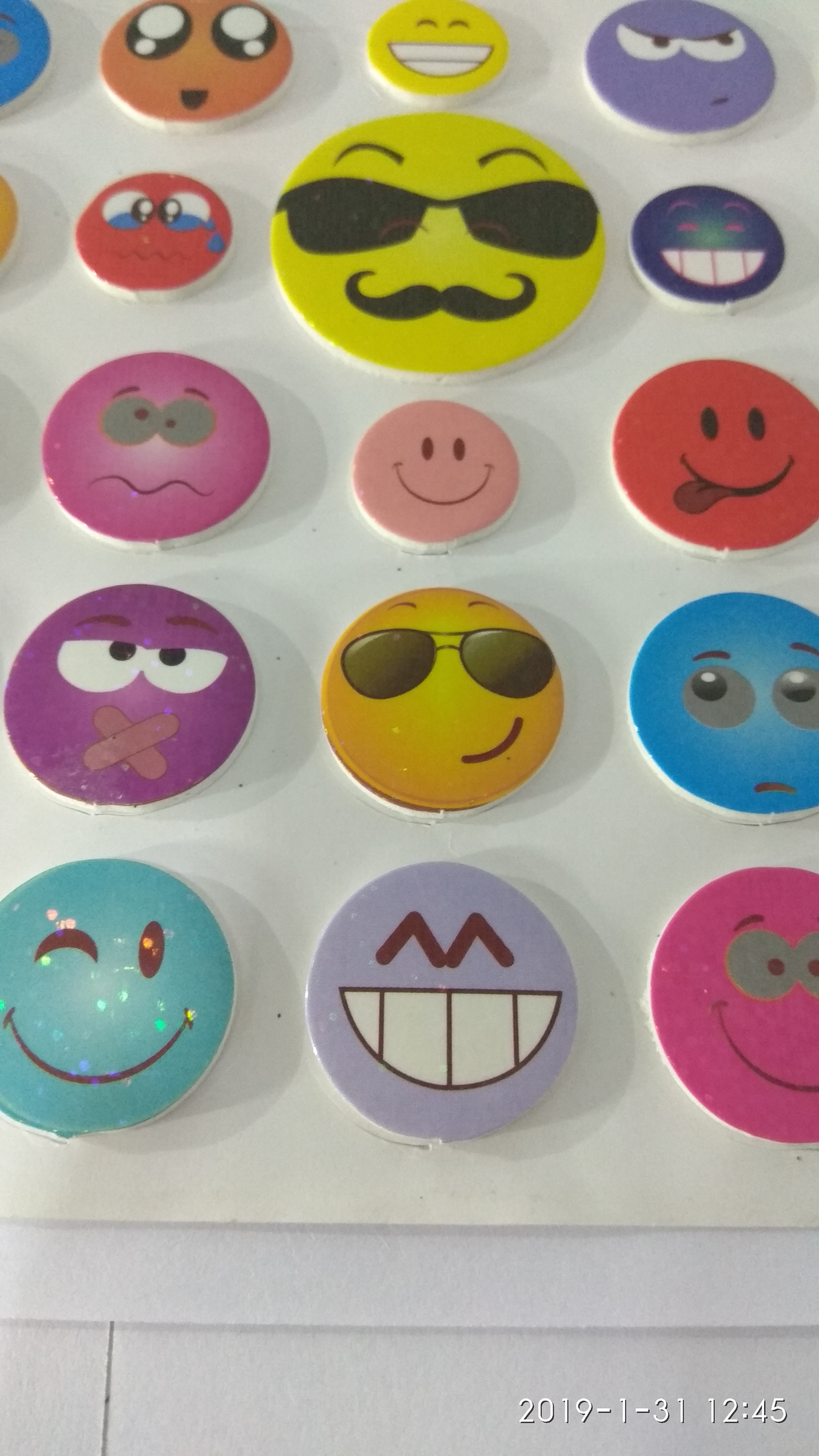 Craft Villa Glare Smiley Print Sticker
