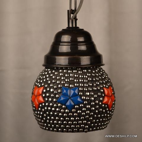 Turkish Mosaic Hanging Lamp Light Hand Craft Medium