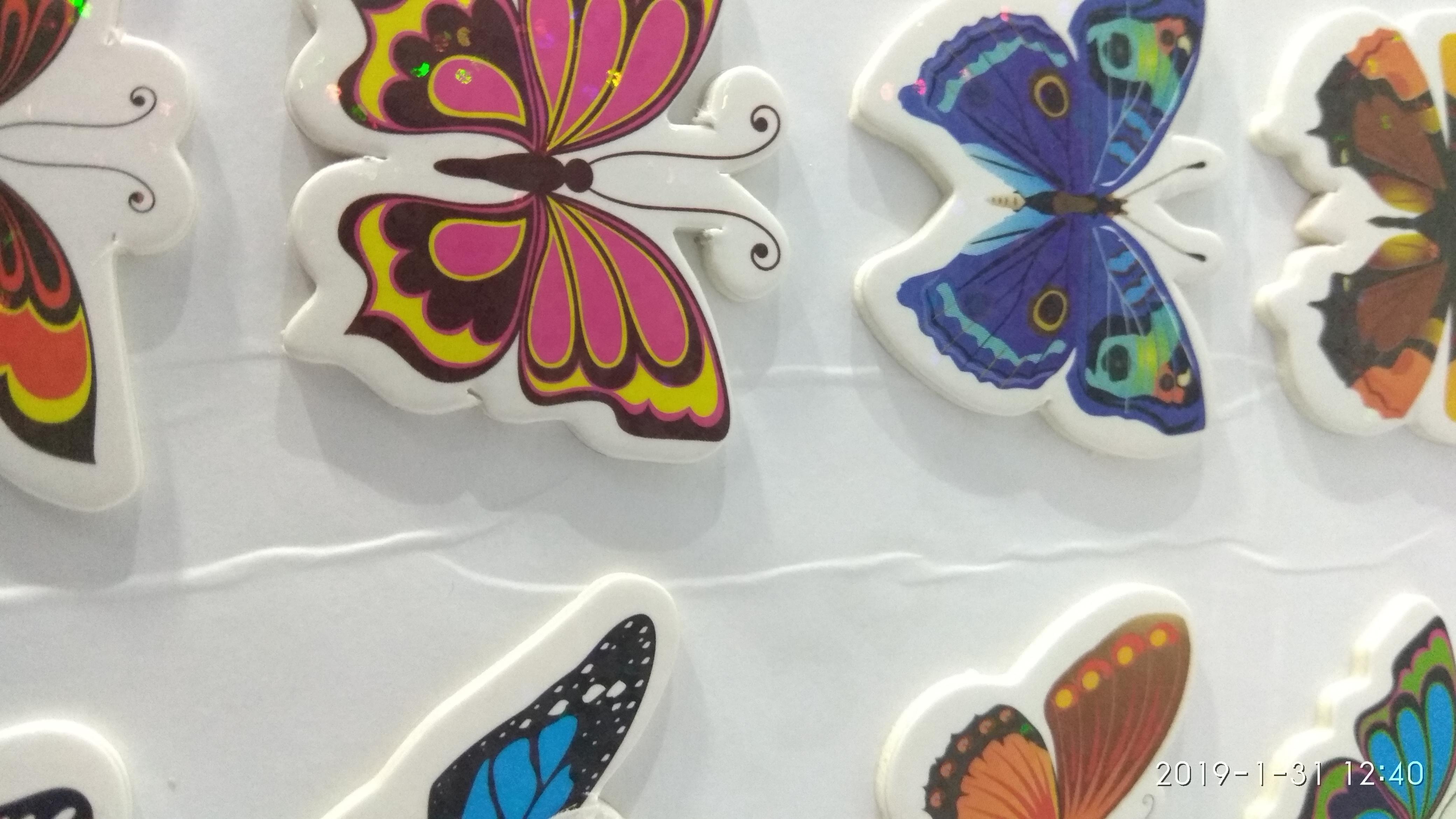 Craft Villa Glare Butterfly Print Sticker