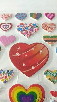 Craft Villa Glare Heart Print Sticker