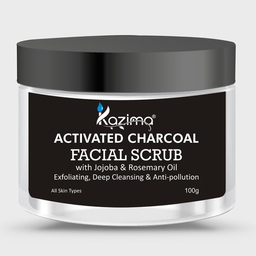 KAZIMA Activated Charcoal Facial Scrub