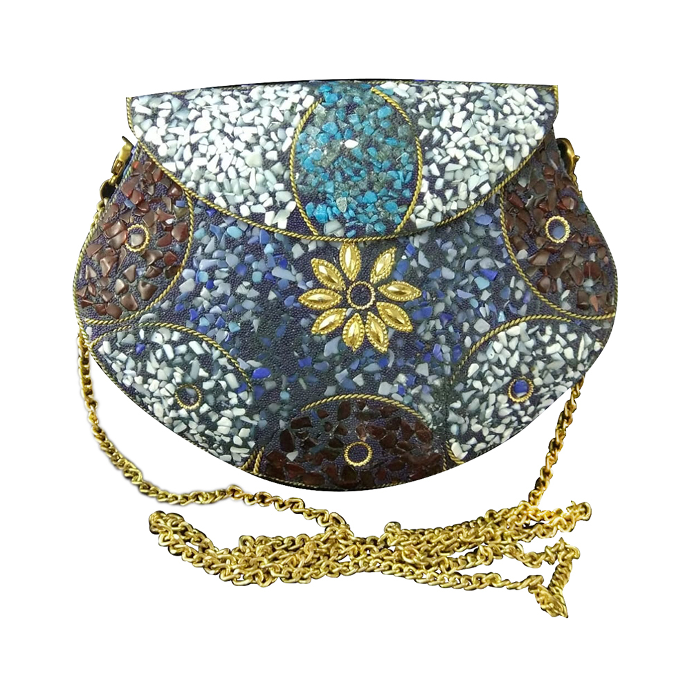 Ladies Designer Mosaic Sling Clutch