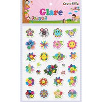 Craft Villa Glare Flower Print Sticker