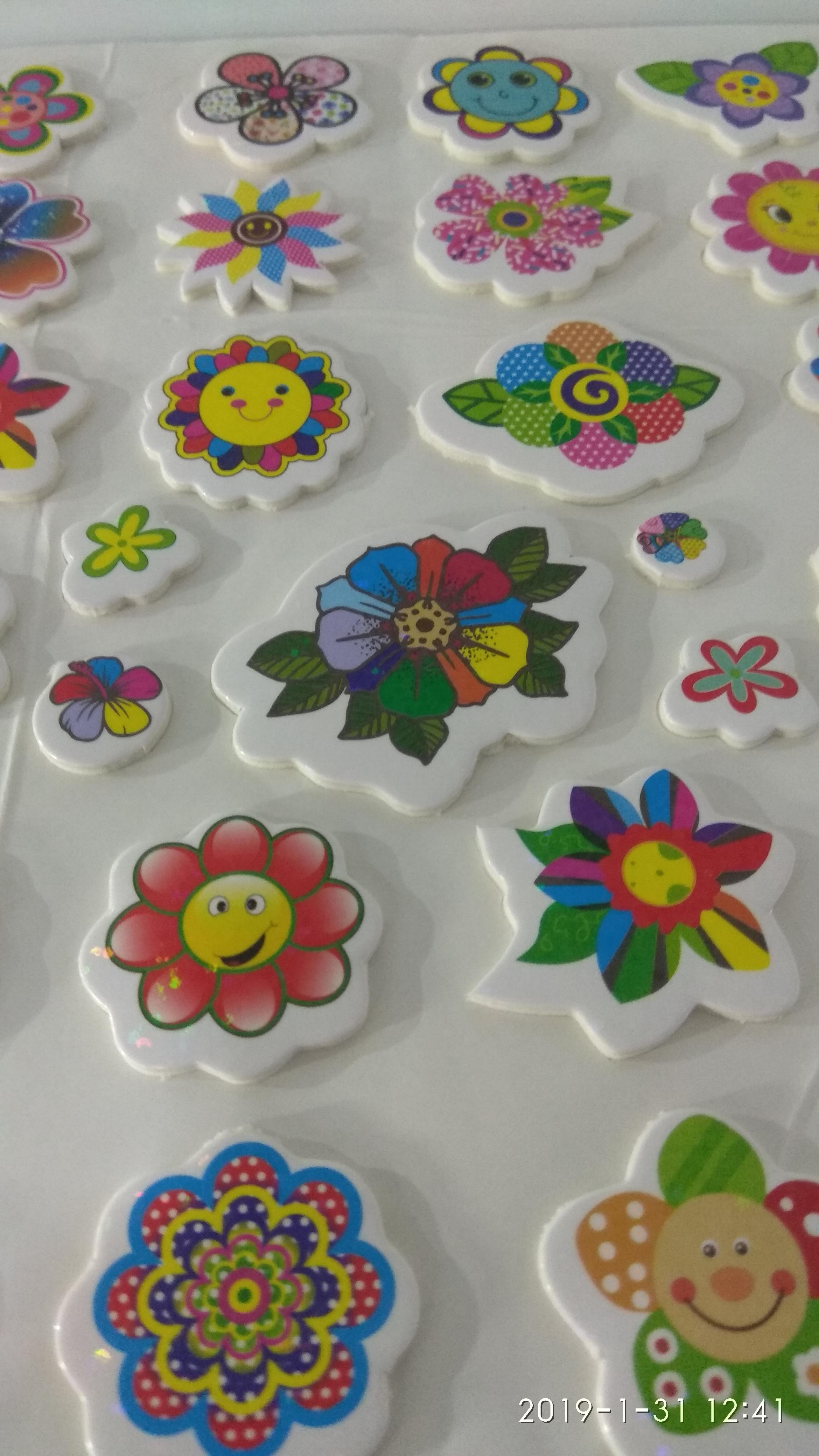 Craft Villa Glare Flower Print Sticker