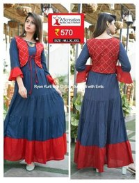 Cotton Slub Fancy Kurti