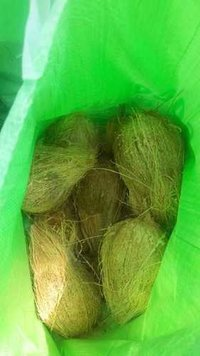 Packed Fresh Semi Husked Coconuts