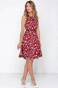 Red One piece Dress