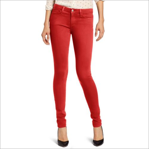 Ladies Red Skinny Jeans