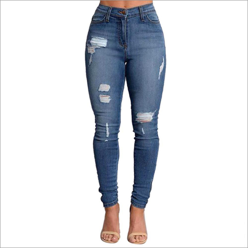 Ladies Skinny High Waist Jeans
