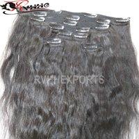 Virgin Hair Brazilian Clip Human Hair