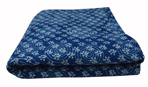 Circle and Small Buti Design Printed Cotton Fabric