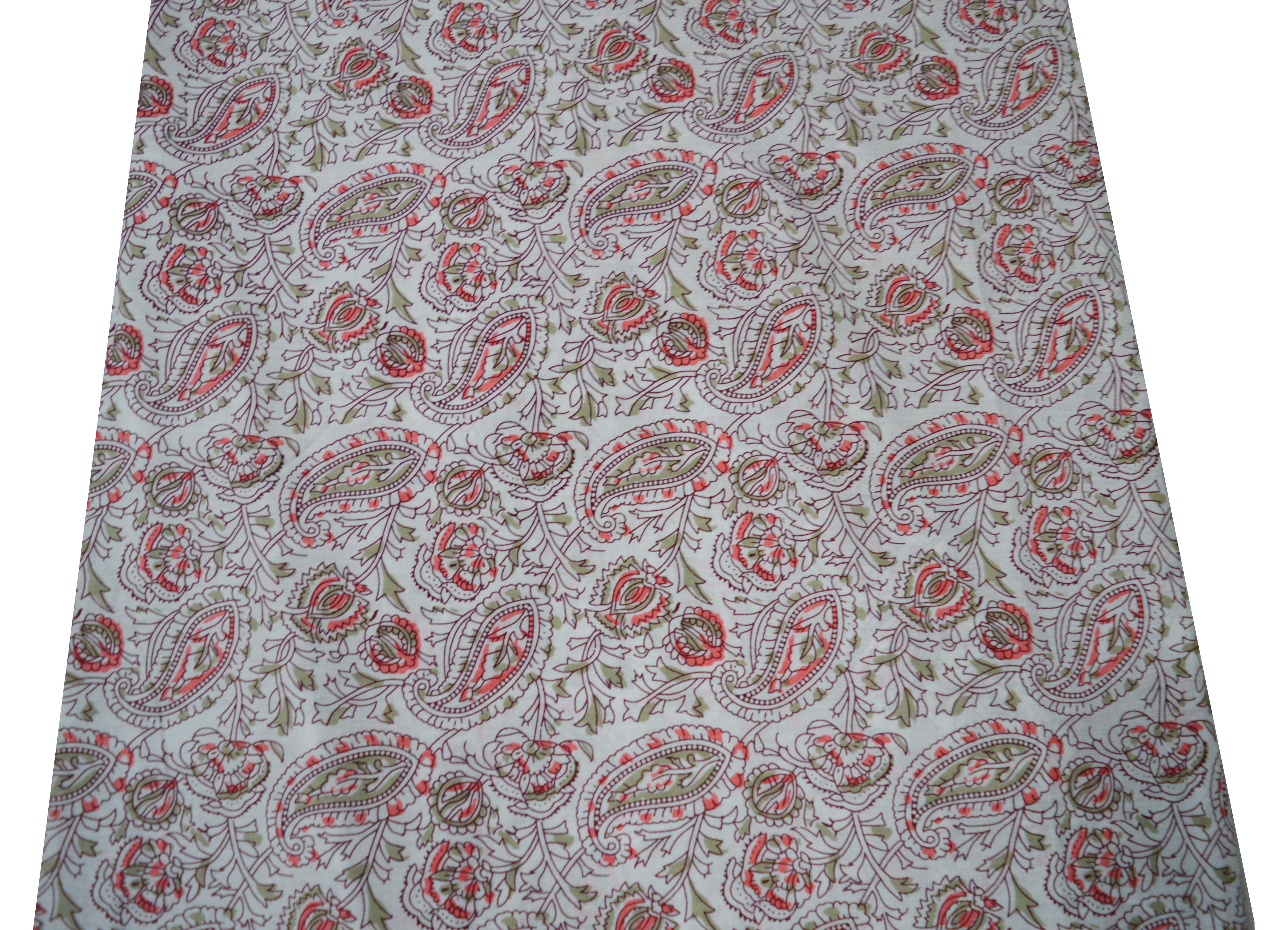 Paisley Pattern 100% Cotton Handmade Fabric