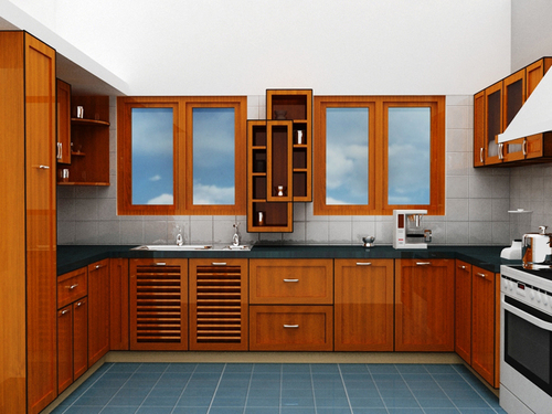 Solid Wood Modular Kitchen