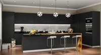 Matt Lacquered Glass Modular Kitchen