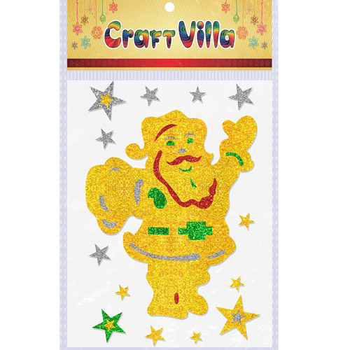 Craft Villa  X-MAS Glitter Sticker