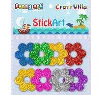 Craft Villa Stick Art Glitter Foam Sticker