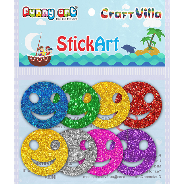 Craft Villa Stick Art Glitter Foam Sticker