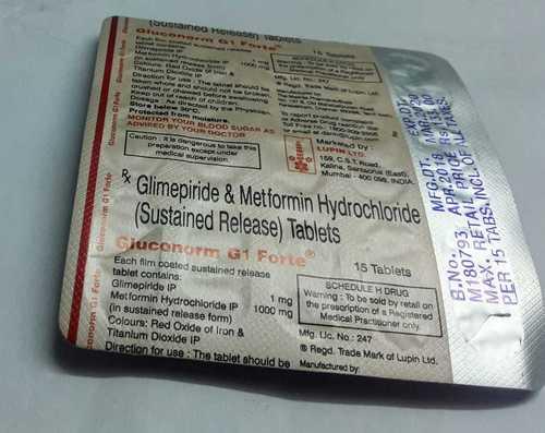 Glimepride Metformin Hydrocloride Sr Tablets